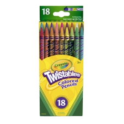 Crayola® Twistables® Color Pencils, Assorted Colors, Set Of 18