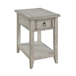 """Coast To Coast Summerville 1-Drawer Chairside Table, 24""""H x 16""""W x 24""""D, White"""