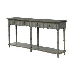 "Coast To Coast Orchard Park 2-Drawer Console Table, 35-1/2""H x 72""W x 16""D, Gray"