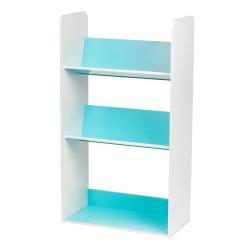 IRIS 2-Tier Storage Shelf With Footboard, Blue