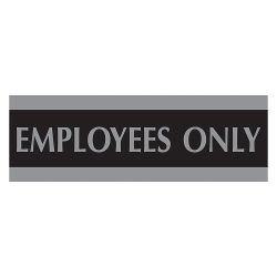 """U.S. Stamp & Sign Century Series Sign, """"Employees Only"""", 3""""H x 9""""W"""