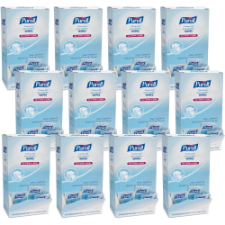 """PURELL® Cottony Soft Hand Sanitizing Wipes - 5"""" x 7"""" - White - Soft, Moist, Textured, Individually Wrapped - For Hand - 12 / Carton"""
