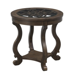 """Coast to Coast Orchard Park Round End Table, 24""""H x 24""""W x 24""""D, Brown"""