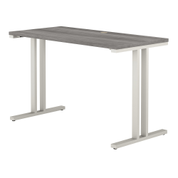 """Bush Business Furniture 400 Series 48""""W x 24""""D Training Table, Platinum Gray, Standard Delivery"""