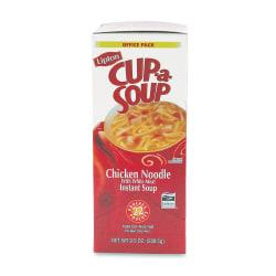 Lipton Chicken Noodle Cup A Soup, 0.45 Oz, Box Of 22 Envelopes