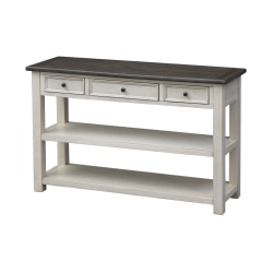 """Coast to Coast St. Claire 3-Drawer Console Table, 30""""H x 48""""W x 16""""D, White"""