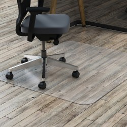 "Deflect-O® Clear Polycarbonate Chair Mat For Hard Floors, 46""W x 60""D"
