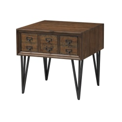 """Coast To Coast Oxford 1-Drawer End Table, 24""""H x 24""""W x 24""""D, Brown"""