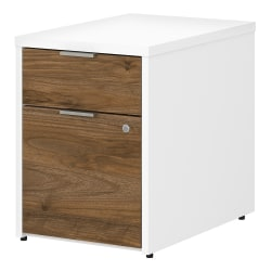 "Bush Business Furniture Jamestown 23-2/3""D Vertical 2-Drawer File Cabinet, Fresh Walnut/White, Standard Delivery"