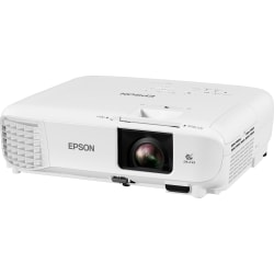 Epson PowerLite E20 LCD Projector - 4:3 - White - 1024 x 768 - Front, Ceiling, Rear - 6000 Hour Normal Mode - 12000 Hour Economy Mode - XGA - 15,000:1 - 3400 lm - HDMI - USB