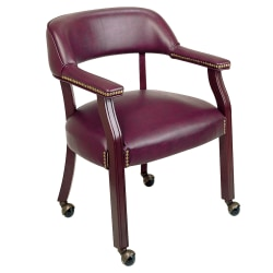 Office Star™ Work Smart® Traditional Guest Chair, Oxblood/Mahogany