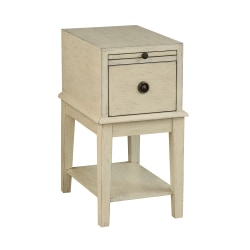 Coast to Coast 1-Drawer Wood Chest Table, Off-White