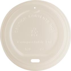 Genuine Joe Vented Hot Cup Lid - Polystyrene - 50 Lids/Pack - 1000 / Carton - White