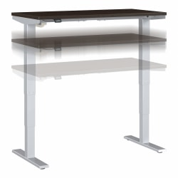 "Move 40 Series by Bush Business Furniture Height-Adjustable Standing Desk, 48"" x 24"", Mocha Cherry/Cool Gray Metallic, Standard Delivery"