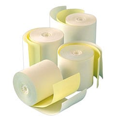 """Office Depot® Brand 2-Ply Paper Rolls, 2 1/4"""" x 100', Canary/White"""