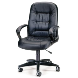 OFM Big And Tall Bonded Leather Chair, Black