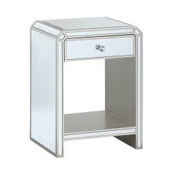 "Coast To Coast Mirrored End Table, 26""H x 19""W x 16""D"