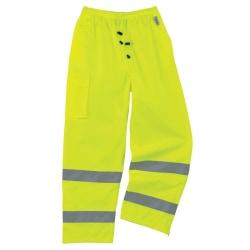 Ergodyne GloWear® 8915 Class E Polyester Rain Pants, 4X, Lime