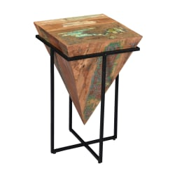 """Coast To Coast Triangle Accent Table, 26-1/2""""H x 16""""W x 16""""D, Brown"""