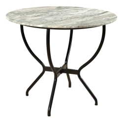 """Coast to Coast Madeline Round Dining Table, 30""""H x 36""""W x 36""""D, Marble"""