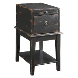 Coast to Coast 1-Drawer Wood Chest Table, Black