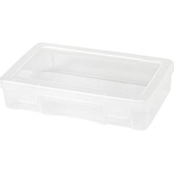"IRIS Medium Modular Supply Cases, 5-1/4"" x 8-1/2"" x 2"", Clear, Pack Of 10 Supply Cases"