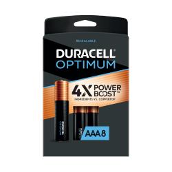 Duracell Optimum AAA Alkaline Batteries, Pack of 8