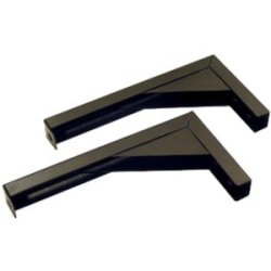 Elite ZVMAXLB12-B - Mounting component (angle brackets) for projection screen - black (pack of 2)
