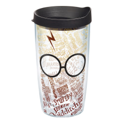 Tervis Harry Potter Tumbler With Lid, Glasses And Scar, 16 Oz, Clear