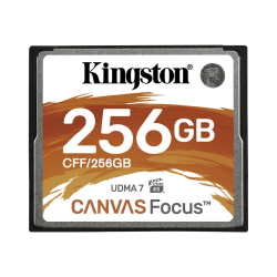 Kingston Canvas Focus 256 GB CompactFlash - 150 MB/s Read - 130 MB/s Write