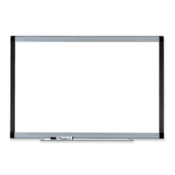 "Lorell® Signature Series Magnetic Dry-Erase Board, 72"" x 48"", Ebony/Silver Metal Frame"