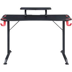 "Lorell® Gaming Desk, 36""H x 48""W x 26""D, Black"