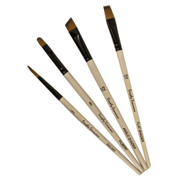 Robert Simmons Simply Simmons Value Paint Brush Set, Work Horse, Assorted Sizes, Assorted Bristles, White, Set Of 4