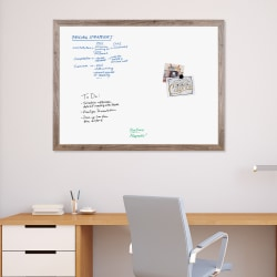 "U Brands Décor Magnetic Dry-Erase Board, 48"" x 36"", Rustic Brown Steel Frame"