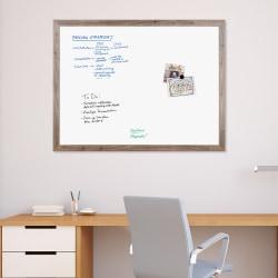 "U Brands Magnetic Dry Erase Board, 48"" X 36"", Brown Rustic MDF Decor Frame"