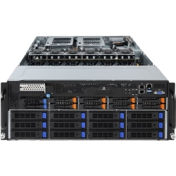 Gigabyte G481-HA1 Barebone System - 4U Rack-mountable - Intel C621 Express Chipset - Socket P LGA-3647 - 2 x Processor Support - 128 GB DDR4 SDRAM DDR4-2666/PC4-21300 Maximum RAM Support - Serial ATA/600, 12Gb/s SAS RAID Supported Controller