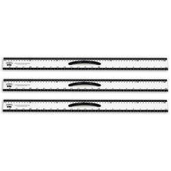 "Learning Advantage Dry-Erase Magnetic Straight Edges, 24"", Black/White, Pack Of 3"