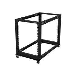 StarTech.com 15U Open Frame Rack - 4 Post - 22-40 in. Adjustable Depth - 1200 lbs Weight Capacity - Includes Casters (4POSTRACK15U)