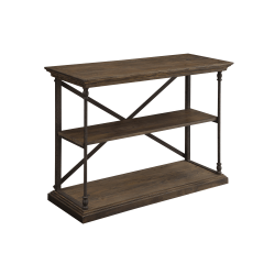 "Coast to Coast Corbin Wood Console Table, 18""D, Brown"