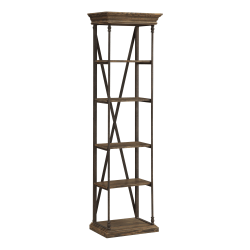Coast to Coast Corbin 5-Shelf Single Etagere, Corbin Medium Brown