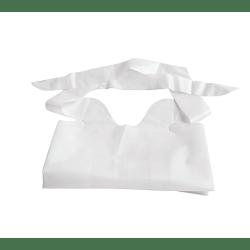 "Medline Waterproof Plastic Bibs With Crumb Catchers, 15"" x 20"", White, Case Of 500"