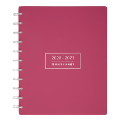 TUL® Discbound Monthly Teacher Planner, Letter Size, Pink, July 2020 To June 2021, TULTCHPLNR-AY20-PK