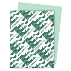 "Exact® Vellum Bristol Cover Stock, 8 1/2"" x 11"", 67 Lb, Green, Pack Of 250 Sheets"