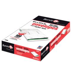 "Quality Park® Tyvek® Envelopes, First Class, 9 1/2"" x 12 1/2"", White, Box Of 100"