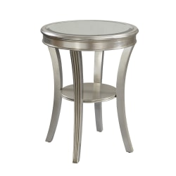 Coast to Coast Mirrored Accent Table, Silver Leaf