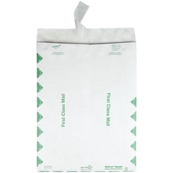 "Quality Park® Tyvek® Envelopes, First Class, 12"" x 15 1/2"", White, Box Of 100"