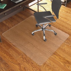 "ES Robbins Hardwood Floor Chair Mat, Rectangular, 46"" x 60"", Clear"