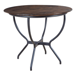 """Coast to Coast Round Cafe Table, 30""""H x 36""""W x 36""""D, Brown"""