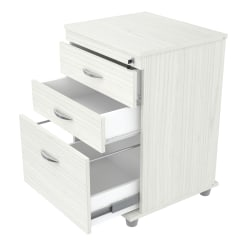 "Inval 17-11/16""D Vertical 3-Drawer File Cabinet, Laricina White"