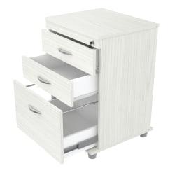 "Inval 17-11/16""D Vertical 3-Drawer File Cabinet, Laricina White"